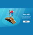skate park horizontal banner vector image