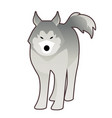 sled husky dog polar race cartoon style vector image vector image