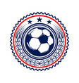 soccer football emblems design element for logo vector image vector image