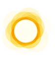 summer icon sunny bright circle shape sun shine vector image vector image