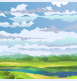 summer landscape with river vector image vector image