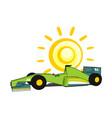 sun and racing car vector image vector image