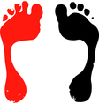 Two foot prints vector image
