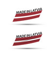two modern colored latvian flags vector image vector image