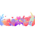 valentine day banner vector image vector image