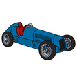 Vintage blue racing car vector image vector image