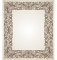 Vintage filigree frame with floral patterns vector image vector image