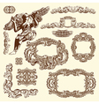 vintage sketch ornamental design element vector image vector image