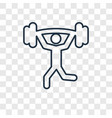 weightlifting concept linear icon isolated on vector image vector image