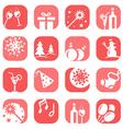 color christmas icon set vector image
