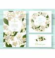 jasmine invitations set vector image