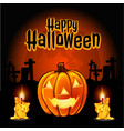 a poster on theme halloween holiday vector image vector image