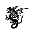 Black dragon tattoo vector image vector image