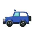 blue jeep icon cartoon style vector image vector image