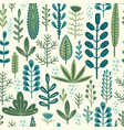 botanical seamless pattern design vector image vector image