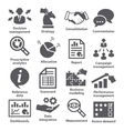 Business management icons Pack 18 vector image vector image