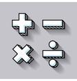 calculator math education line icon vector image