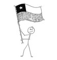 cartoon of man waving the flag of republic of vector image vector image
