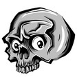 cartoon skull skull tattoo skull vector image vector image