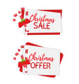 christmas banners for sale with sugar cane vector image vector image