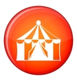 Circus tent icon flat style vector image vector image