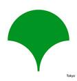 coat arms tokyo is a japan prefecture emblem vector image