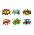Comics bubbles for emotions and explosions vector image vector image