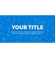 cover your title on blue background with objects vector image vector image