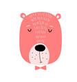 cut bear baby animal character for kid print vector image