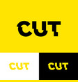 cut letters glitch effect typography dissected vector image