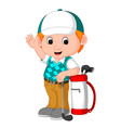 cute golfer cartoon vector image