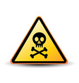 danger sign with skull symbol vector image vector image