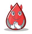 devil blood drop cartoon mascot character vector image