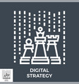 digital strategy icon vector image