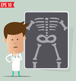 Doctor show a report - - EPS10 vector image vector image
