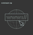 domain icon line element of vector image vector image
