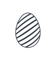 easter egg icon black egg sign isolated white vector image