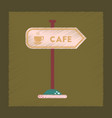 flat shading style icon cafe sign vector image vector image