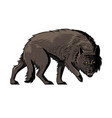 giant wolf from norse myth fenrir vector image