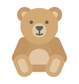 Gift toy bear on white background vector image