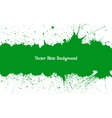 green ink splashes with space for text over vector image vector image
