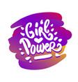 hand drawn of girl power vector image vector image