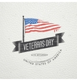 Happy veterans day Detailed elements Old retro vector image vector image