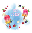 ice cream popsicle and nuts chocolate logo vector image