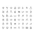 icon set for social media personal brand vector image vector image