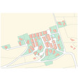imaginary cadastral map an area with buildings vector image vector image
