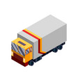 isometric logistics transportation isometric vector image vector image