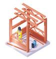 isometric welder at welding work vector image
