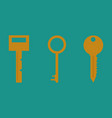 key icon key flat vector image
