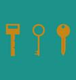 key icon key flat vector image vector image